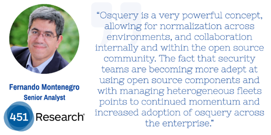 Thoughts on osquery from Fernando Montenegro of 451 Research