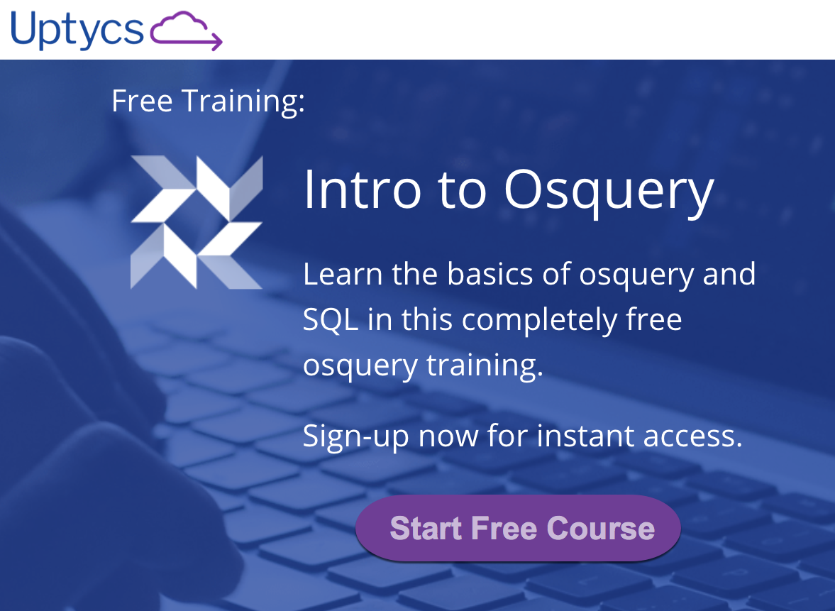 Free osquery training