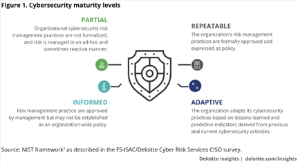 NIST framework as described by Deloitte Cyber Risk Services CISO Survey