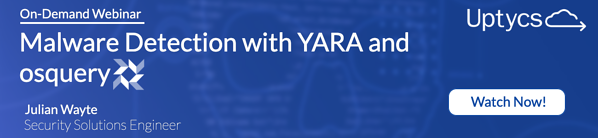 "Register for our on-demand webinar ""Resource Smart Malware Detection with YARA and osquery"""