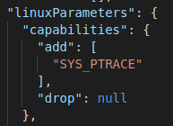 Adding SYS_PTRACE, which allows osquery to capture process events.