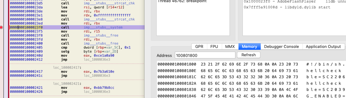 Runs script using system API
